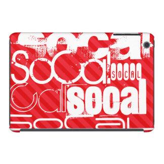 SoCal; Rayas del rojo del escarlata Fundas De iPad Mini