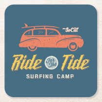 Socal Ride For The Tide Square Paper Coaster