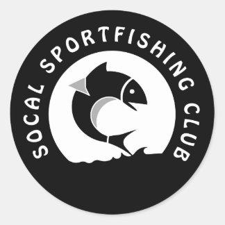 Socal Sportfishing Club Logo Classic Round Sticker