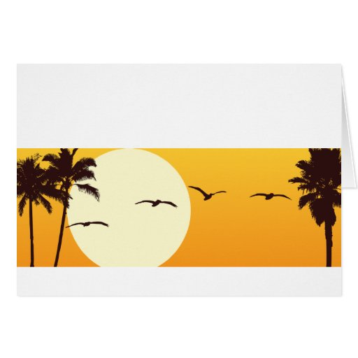 SoCal Sunset Customizable Notecard Stationery Note Card