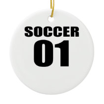 Soccer 01 Birthday Designs Ceramic Ornament