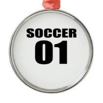 Soccer 01 Birthday Designs Metal Ornament