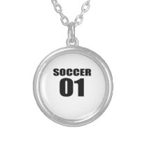 Soccer 01 Birthday Designs Silver Plated Necklace