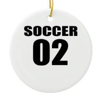 Soccer 02 Birthday Designs Ceramic Ornament
