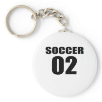 Soccer 02 Birthday Designs Keychain