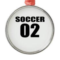 Soccer 02 Birthday Designs Metal Ornament