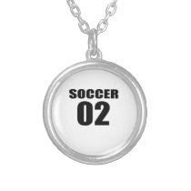 Soccer 02 Birthday Designs Silver Plated Necklace