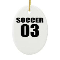 Soccer 03 Birthday Designs Ceramic Ornament