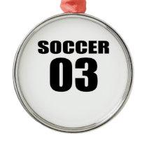 Soccer 03 Birthday Designs Metal Ornament