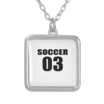 Soccer 03 Birthday Designs Silver Plated Necklace