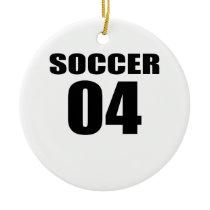 Soccer 04 Birthday Designs Ceramic Ornament