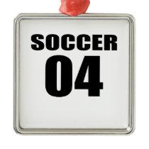 Soccer 04 Birthday Designs Metal Ornament