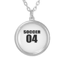 Soccer 04 Birthday Designs Silver Plated Necklace