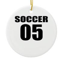 Soccer 05 Birthday Designs Ceramic Ornament