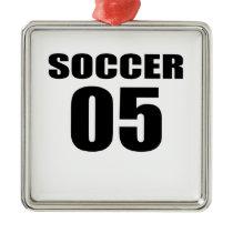 Soccer 05 Birthday Designs Metal Ornament