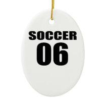 Soccer 06 Birthday Designs Ceramic Ornament