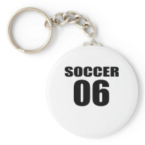 Soccer 06 Birthday Designs Keychain