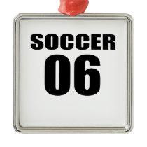 Soccer 06 Birthday Designs Metal Ornament