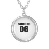 Soccer 06 Birthday Designs Silver Plated Necklace