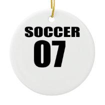 Soccer 07 Birthday Designs Ceramic Ornament