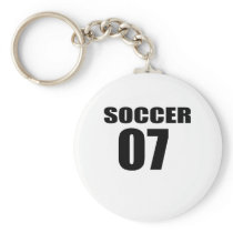 Soccer 07 Birthday Designs Keychain
