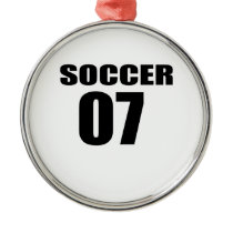 Soccer 07 Birthday Designs Metal Ornament