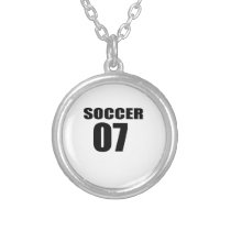 Soccer 07 Birthday Designs Silver Plated Necklace