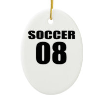 Soccer 08 Birthday Designs Ceramic Ornament