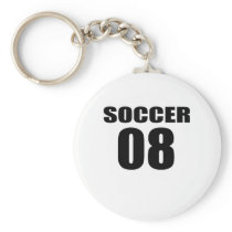 Soccer 08 Birthday Designs Keychain