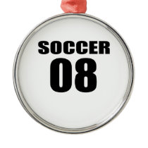 Soccer 08 Birthday Designs Metal Ornament