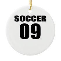 Soccer 09 Birthday Designs Ceramic Ornament