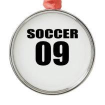 Soccer 09 Birthday Designs Metal Ornament