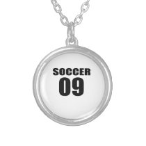 Soccer 09 Birthday Designs Silver Plated Necklace