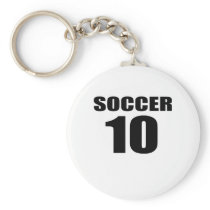 Soccer 10 Birthday Designs Keychain
