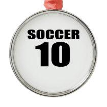 Soccer 10 Birthday Designs Metal Ornament