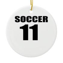 Soccer 11 Birthday Designs Ceramic Ornament