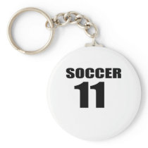 Soccer 11 Birthday Designs Keychain