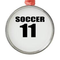 Soccer 11 Birthday Designs Metal Ornament