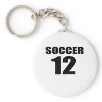 Soccer 12 Birthday Designs Keychain