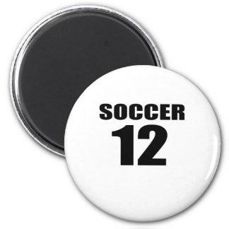 Soccer 12 Birthday Designs Magnet