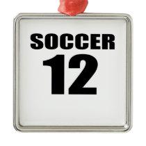 Soccer 12 Birthday Designs Metal Ornament