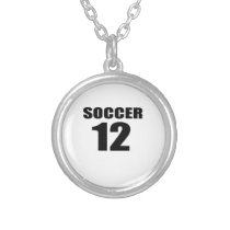 Soccer 12 Birthday Designs Silver Plated Necklace