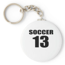 Soccer 13 Birthday Designs Keychain