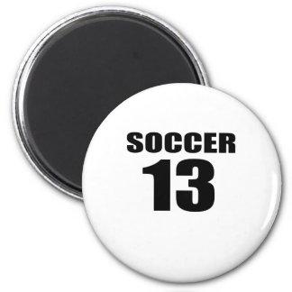 Soccer 13 Birthday Designs Magnet