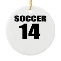 Soccer 14 Birthday Designs Ceramic Ornament