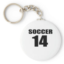 Soccer 14 Birthday Designs Keychain