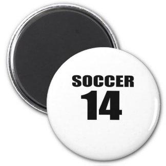 Soccer 14 Birthday Designs Magnet