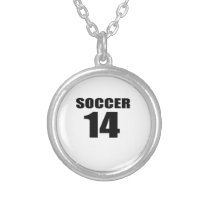 Soccer 14 Birthday Designs Silver Plated Necklace