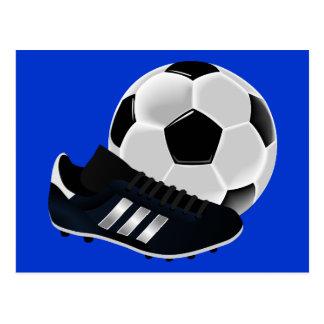 soccer-155947 soccer football football boot ball s postcard