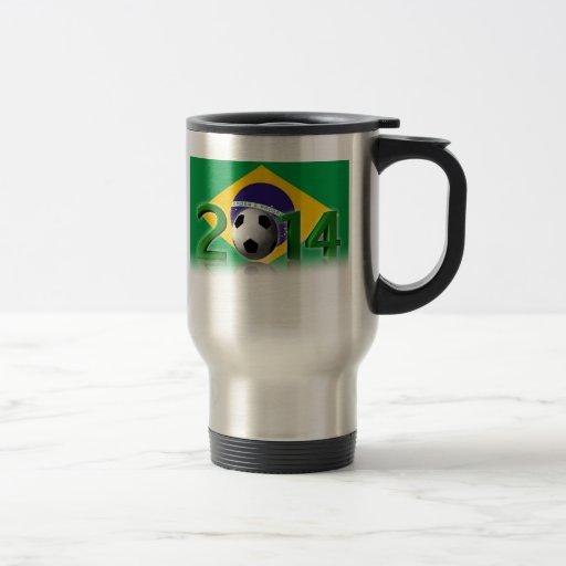 Soccer 15 Oz Stainless Steel Travel Mug
